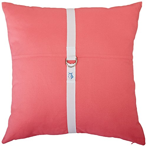 Southern Tide The D-Ring Pillow, 18 by 18-Inch, Sunset Pink