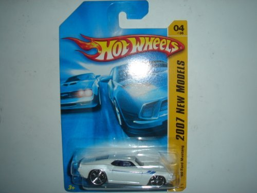 2007 Hot Wheels '69 Ford Mustang White #004/180