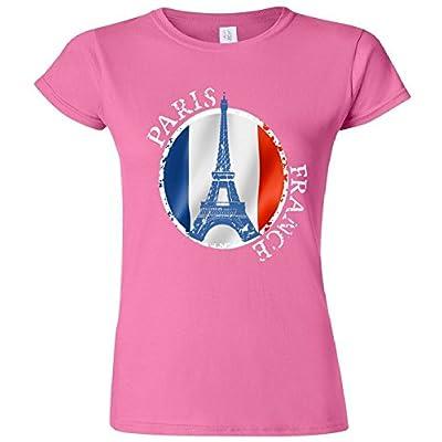 Junior Fit: Paris France Peace Eiffel Tower Flag T-Shirt