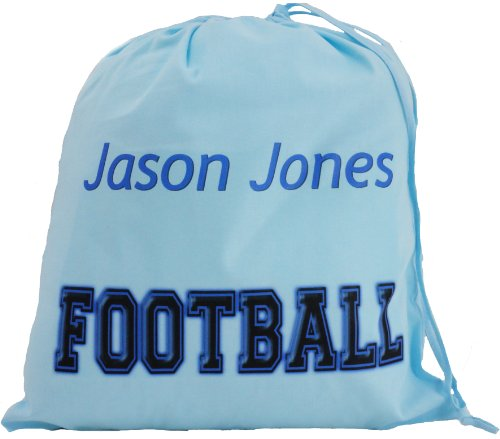 Personalised - Blue Football Bag - Large Cotton