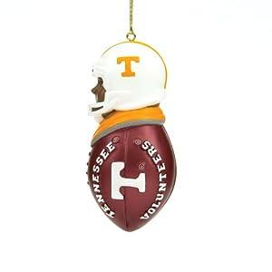 """Tennessee Volunteers 3"""" Black Resin Football Tacklers Holiday Tree Ornament - NCAA College Athletics"""
