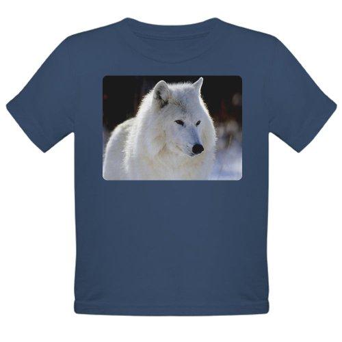 Artsmith, Inc. Organic Toddler T-Shirt Dark Arctic White Wolf - Galaxy, 6T