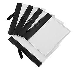 Storex Swing Clip Clear Poly Report Cover, Black Stripe, Case of 18 (STX51252B18C)
