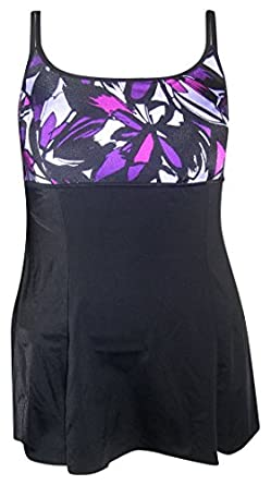 Inches Away One-Piece Swimdress Swimsuit Abstract 10-18