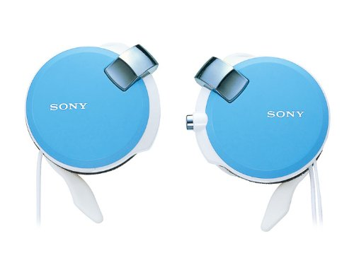 Sony Clip-On Stereo Headphones With Retractable | Mdr-Q38Lw L Blue