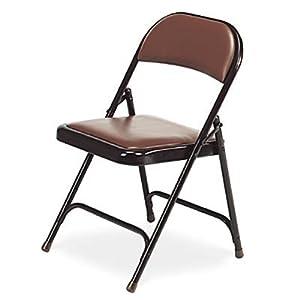 Amazon Virco Padded Metal Folding Chair Brown Vinyl