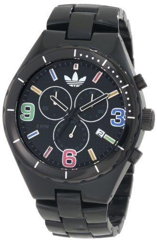 Adidas Originals Unisex 44mm Multi-Colour Dial Black Cambridge Chronograph Watch - ADH2519