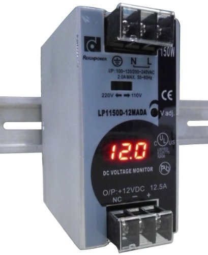 Reignpower Lp1150D-12Mada 150W 12Vdc 12A Din Rail Power Supply Voltage Monitor Display