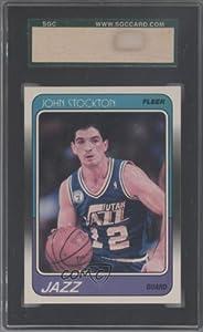 John Stockton SGC AUTHENTICATED AUTHENTIC Utah Jazz (Basketball Card) 1988-89 Fleer... by Fleer