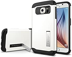 Galaxy S6 Case, Spigen [AIR CUSHION] Slim Armor Case [KICK-STAND] for Samsung Galaxy S6 - Shimmery White (SGP11326)