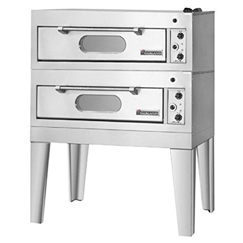 """208V Single Phase Garland E2011 55 1/4"""" Double Deck Electric Pizza Oven"""