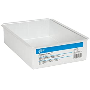 Ateco Aluminum Cake Pan, Rectangle, 8- by 12- by 3-Inches