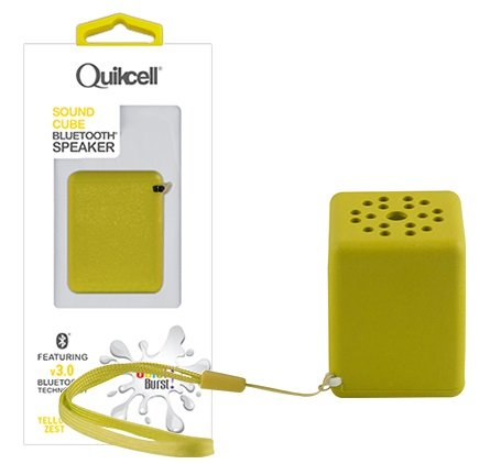 Box Of 6 Quikcell Sound Cube Bluetooth Speakers - Yellow Zest