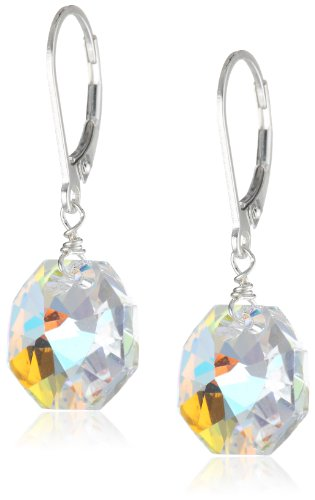 Sterling Silver And Swarovski Elements Crystal Aurora Borealis Earrings