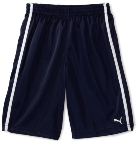 PUMA Big Boys' Mesh Short, Navy, Small