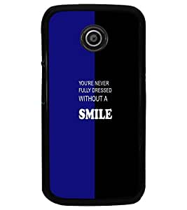 PrintDhaba Quote D-4732 Back Case Cover for MOTOROLA MOTO E (Multi-Coloured)