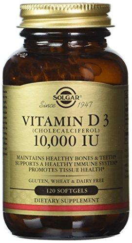 Solgar, Vitamin D3 (Cholecalciferol) 10,000 IU 120 Softgels (Vitamin D 10000 Iu compare prices)