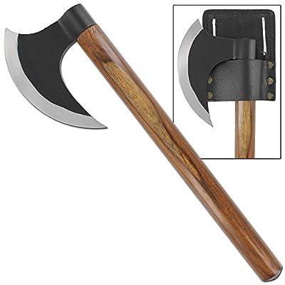 Hand Forged Medieval Silent Raider Battle Axe