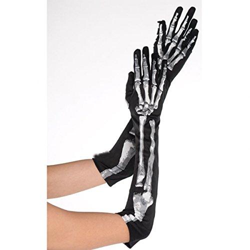Skeleton Long Gloves - 1