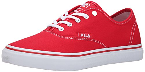 Fila Men's Classic Canvas Shoe, Fila Red/White, 8.5 M US
