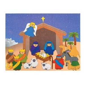 Do It Yourself Nativity Sticker Scene (1 dz)
