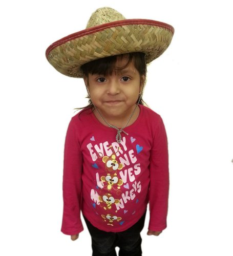 Red Child Size Woven Mexican Sombrero - Traditional Mexican Woven Sombrero In Child Size