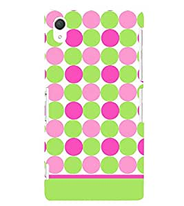 Dots Fashion Pattern 3D Hard Polycarbonate Designer Back Case Cover for Sony Xperia Z2 :: Sony Xperia Z2 L50W D6502 D6503