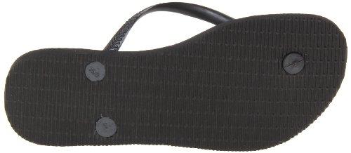 Havaianas Women's Slim Sandal Flip Flop, black, 35 BR/6 W US