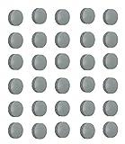Aimants-gris--24-mm-pour-tableau-magntiquefrigo-faxland-lot-de-tableau-rond-Lot-de-30