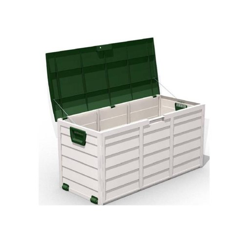 Proteam AC1053 - Lockable Green / Beige Garden Cushion / Storage Box