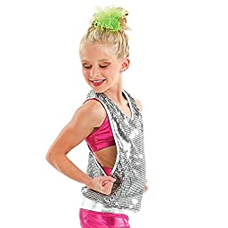 Youth Reflection Sequin Tunic Tank Silver Large