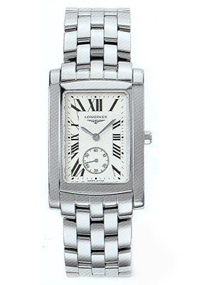 Longines Men's Quartz Stainless Steel Watch, Color:Silver-Toned (Model: L56554716)