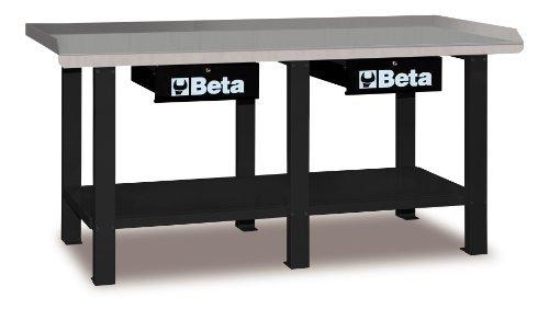 Beta-C56-2-Meter-Schwerlast-Werkbank-Grau-mit-Stahl-Arbeitsplatte