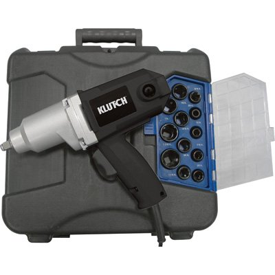 - Klutch Impact Wrench Kit – 7 Amp, 1/2in.