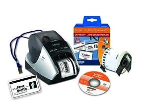 Brother QL-570VM Visitor Badge and Management Kit