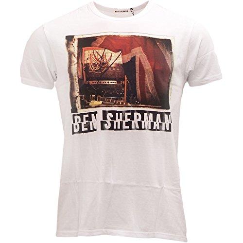 Ben Sherman -  T-shirt - Classico  - Maniche corte  - Uomo bianco Large