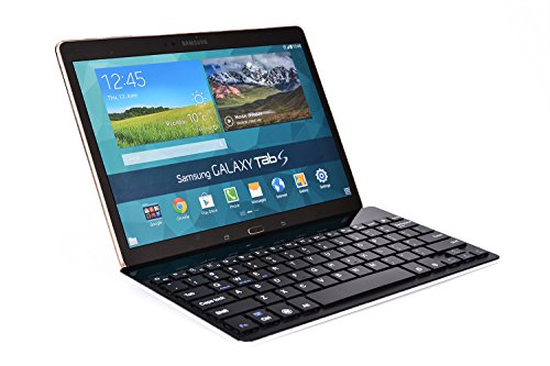 Cooper Cases(Tm) Gokey Lenovo Ideatab A1000 / A2107 / A2109 / A3000 Smartphone/Tablet Wireless Bluetooth Keyboard In Black (Premium Aluminum Alloy Build; Us English Qwerty Keyboard Featuring 81 Laptop-Style Keys; Built-In Stand; Wireless Bluetooth Connect