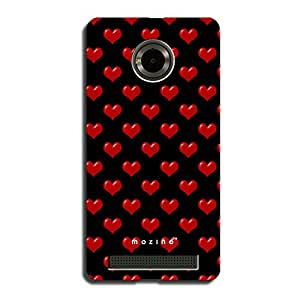 Mozine Red Love Pattern printed mobile back cover for YU Yuphoria