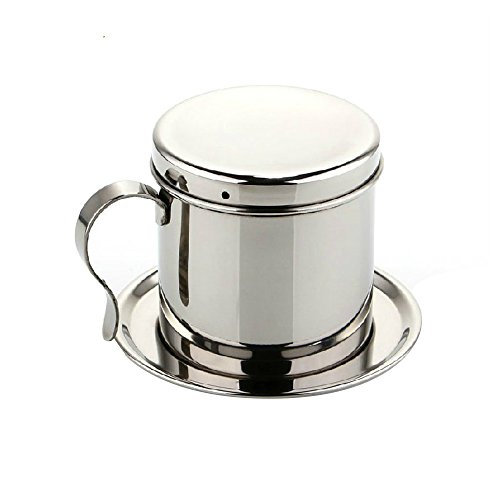 Stainless Steel Vietnamese Coffee Pour Over Dripper Maker Filter Percolator