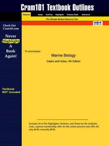 Outlines & Highlights for Marine Biology by Castro, ISBN: 0070121974
