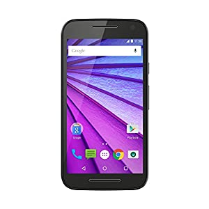 Motorola Moto G 3rd Generation 2 GB RAM/16 GB ROM 4G LTE UK SIM-Free Smartphone - Black (Amazon Exclusive)