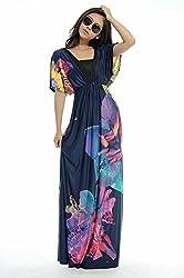 Tuotuo Women Plus Size Floral Maxi Bohemian Beach Summer Long Dress M- 6xl
