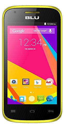 BLU Dash JR 4.0 K Smartphone - Unlocked - Yellow