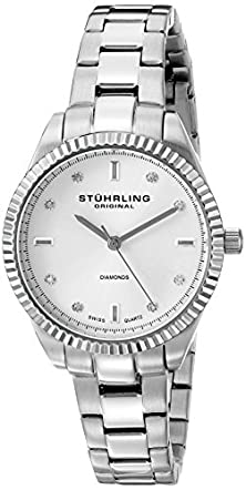 "buy Stuhrling Original Women'S 607L.01 ""Symphony Allure"" Stainless Steel Watch With Diamonds"