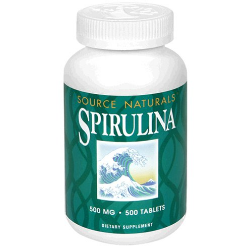 Source Naturals Spirulina 500mg, 500 Tablets