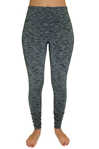 90 Degree by Reflex Power Flex Yoga Pants - Ash Grey Space Dye - M