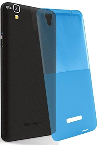 Exclusive Soft Silicon Transprent Back Case Cover For Micromax YU Yureka -Blue