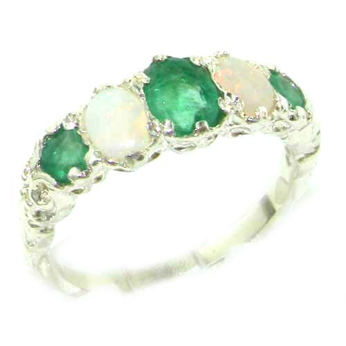 High Quality Solid Sterling Silver Natural Emerald