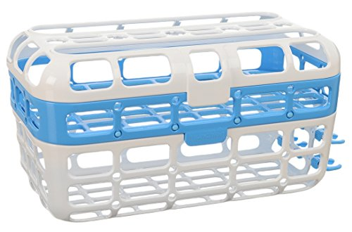 Munchkin High Capacity Dishwasher Basket, Blue - 1