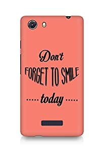 Amez Dont forget to Smile Today Back Cover For Micromax Unite 3
